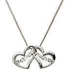 more details on Sterling Silver CZ 'Together Forever' Hearts Pendant.