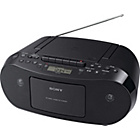 more details on Sony CFDS50B CD and Cassette Player - Black.