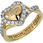 more details on 9ct Gold Plated Sterling Silver 'My Mum My Friend' Ring.