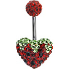 more details on Stainless Steel Strawberry Heart Belly Bar.