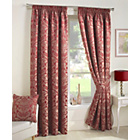 more details on Crompton Lined Curtains 117x137cm - Red.