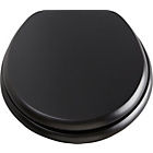 more details on Collection Solid Wood Slow Close Toilet Seat - Black.