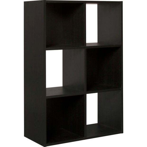 Buy Home Squares 6 Cube Storage Unit Black At