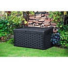 more details on Black Mila Rattan Effect Plastic Outdoor Storage Box.