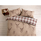 more details on Catherine Lansfield Natural Stag Duvet Cover Set - Kingsize.