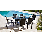 more details on Lima 6 Seater Patio Furniture Dining Set - Black.