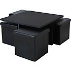 more details on HOME Ohio Ottoman Coffee Table - Black.
