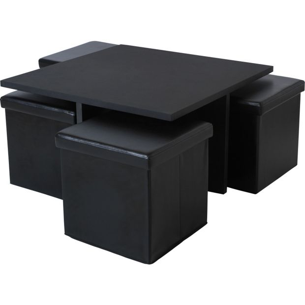 Buy home ohio ottoman coffee table black at your online shop for coffee tables Buy home furniture online uk