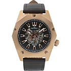 more details on Rotary Men's Fusion Brown Strap Skeleton Watch.