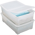 more details on 32 Litre Underbed Plastic Storage Boxes - Set of 4.