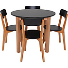 more details on Hygena Rye Black Dining Table and 4 Chairs.