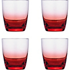 more details on Faded Red Glasses - 4 Tumbler Glasses.
