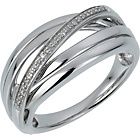 more details on Sterling Silver Diamond Crossover Ring.