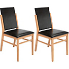 more details on Hygena Riley Pair of Black Oak Dining Chairs.