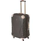more details on IT PC Protect Expandable Large 4 Wheel Suitcase - Charcoal.