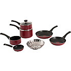 more details on Tefal Bistro Non-Stick 7 Piece Set - Red.