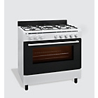 more details on Bush AG96RW Gas Range Cooker- White/Ins/Del/Rec.