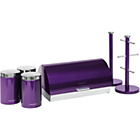 more details on Morphy Richards Accents 6 Piece Storage Set - Plum.