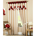 Danielle Lined Eyelet Curtains - 168 x 183cm - Red