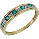 more details on 9ct Gold Emerald and Diamond Half Eternity Ring.