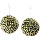 more details on Artificial 28cm White Rose Balls - Pack of 2.