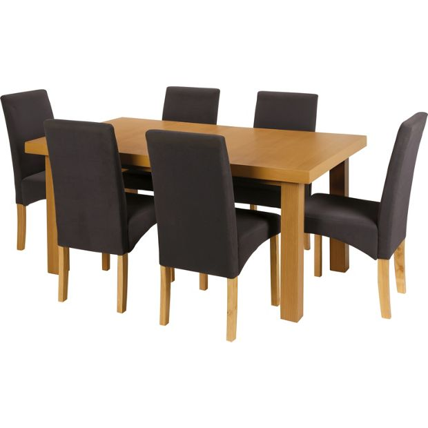 Buy Collection Cosgrove Ext Dining Table 6 Chairs Oak Stain At Argos