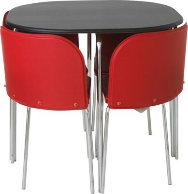 Buy Hygena Amparo Dining Table and 4 Chairs BlackRed at  : 1447569RSETTMBampwid620amphei620 from www.argos.co.uk size 620 x 620 jpeg 28kB