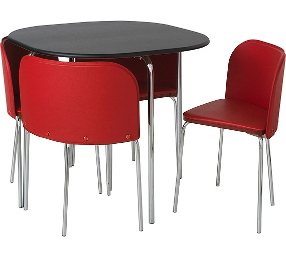Red Dining Room Table And Chairs: Buy Hygena Amparo Dining Table And 4 Chairs