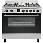 more details on Bush AGE96RS Range Cooker- S/Steel/Exp Del.