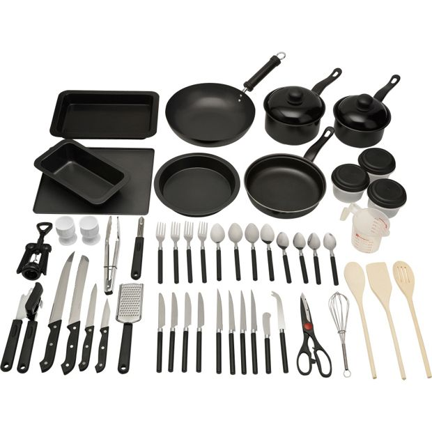 Non Stick Kitchen Set With Price: Buy HOME 50 Piece Non-Stick Kitchen Starter Set At Argos