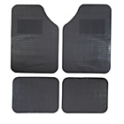 more details on Simple Value Set of 4 Rubber Car Mats - Black.