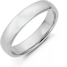 more details on Sterling Silver Heavyweight Wedding Band - 5mm.