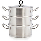 more details on Morphy Richards Accents 18cm 3 Tier Steamer-Stainless Steel.