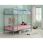 more details on Maddison Single Bunk Bed Frame - Silver