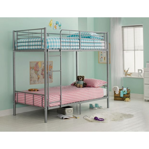 Buy Maddison Single Bunk Bed Frame Silver At Argos Co Uk