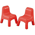 more details on Early Learning Centre Set of 2 Plastic Chairs - Red.