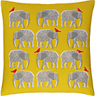 more details on Habitat Topsy Elephant Pattern Cushion - Yellow.