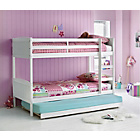 more details on Detachable Single Bunk Bed Frame with Trundle - White.