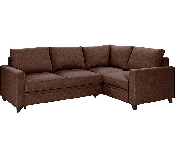 Buy hygena seattle fabric right hand corner sofa bed for Sofa bed argos