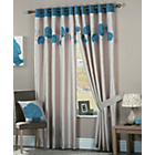 more details on Danielle Lined Eyelet Curtains 229x274cm - Teal.