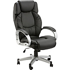 more details on Hudson Gas Lift Leather Faced Office Chair - Black.