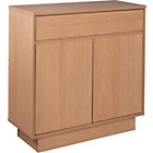 more details on Cubes Small 2 Door 1 Drawer Sideboard - Beech Effect.