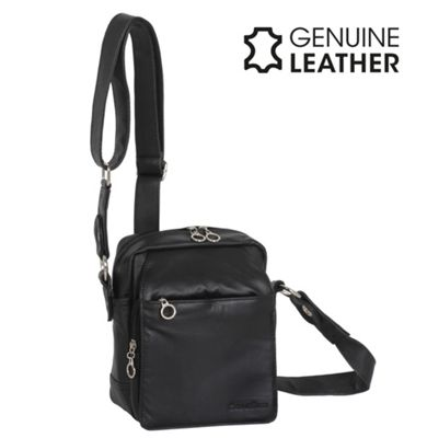 Casa Di Borse Real Leather Handbag - Black