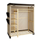 more details on Polycotton and Pine Triple Wardrobe - Cream & Chocolate.
