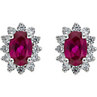 more details on Sterling Silver Ruby Coloured Cubic Zirconia Stud Earrings.