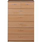 more details on Cheval 5+2 Drawer Chest - Beech Effect.