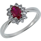 more details on Sterling Silver Ruby Cubic Zirconia Cluster Ring.