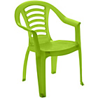 more details on Chad Valley Children's Plastic Chair - Green.
