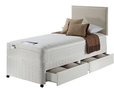 Buy Silentnight Miracoil Travis Microquilt Single Divan 2 Drw At Your Online