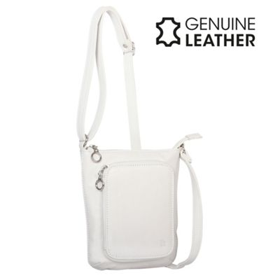 Casa Di Borse Real Leather Handbag - White